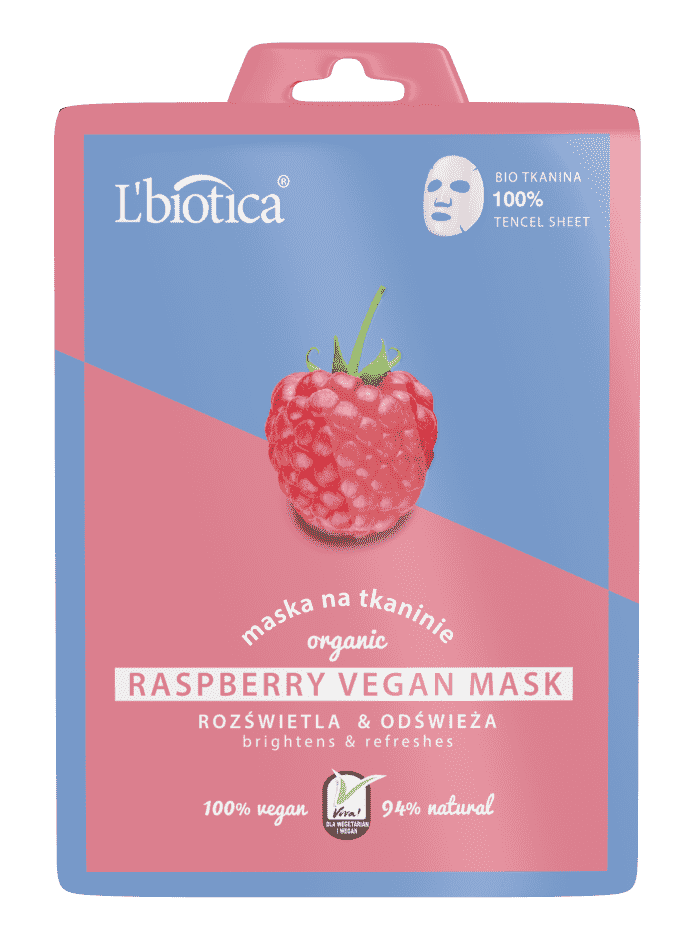 Lbiotica Raspberry vegan mask